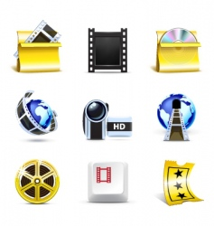 movie icons | bella series vector image vector image