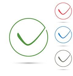 Positive green checkmark symbol template vector image vector image