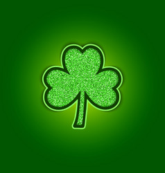 Saint patricks day background with shiny green vector