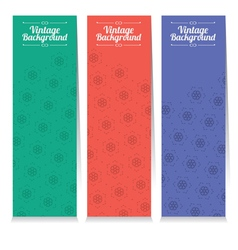 Set of three oriental style vertical banners vector