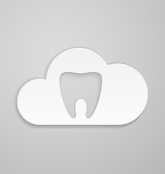 Tooth in could vector