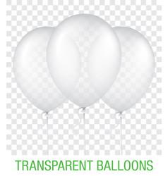 Transparent blue ballons vector