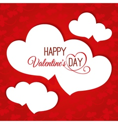 Valentines day abstract background with hearts vector image vector image