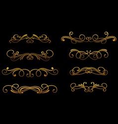 vintage golden monograms vector image vector image