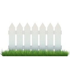 White fence vector image vector image