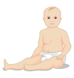 A child in a diaper vector