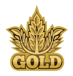 Gold sign vector image