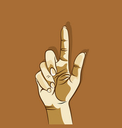 Finger point on screen concept vector