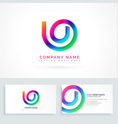 abstract logo design concept vector image