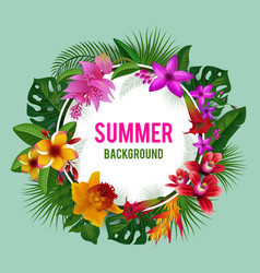 tropical graphics exotic spring or summer flowers vector image