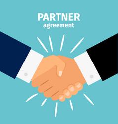 Business partnership handshake vector