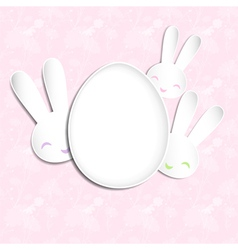 Springtime easter holiday background vector