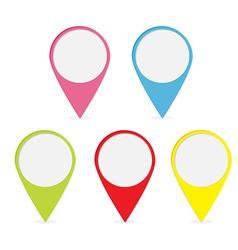 Map pointer set colorful round markers vector