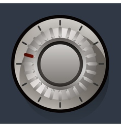 Volume settings sound control knob vector