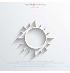 Sun web flat icon vector