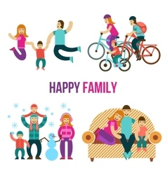 Family fun set vector