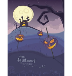 halloween purple template vector image