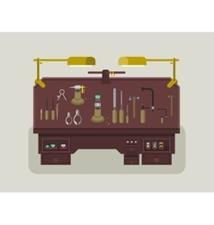 Jewelry repair shop vector
