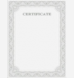 Vertical certificate template vector