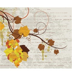grunge autumn floral background vector image