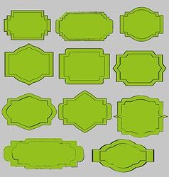 green vintage labels vector image