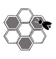 bee hive team work community concept sketch vector image