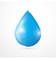 Blue Water Drop Isolated on White Background vector image
