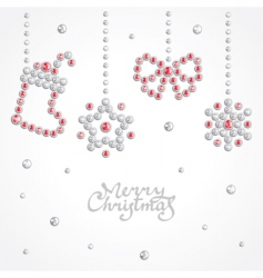 Christmas jewel background vector image vector image