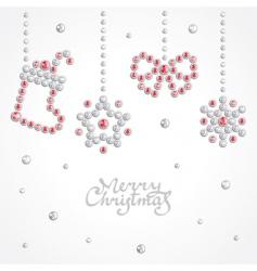 Christmas jewel background vector image vector image