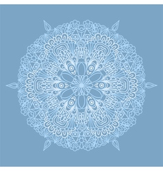 Circle pattern with lacy snowflake vector image