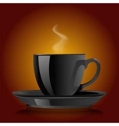 cup of black coffee vector image vector image
