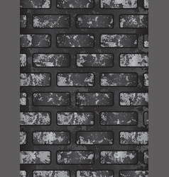Dark old black brick wall eps 10 vector