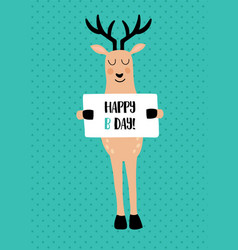 Deer card vector