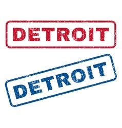 Detroit rubber stamps vector