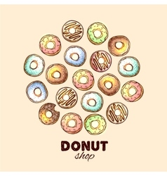 Donut for your design vector