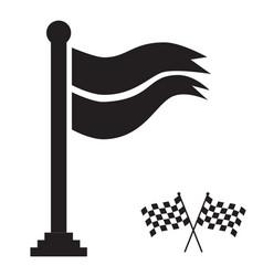 flag winner icon vector image vector image