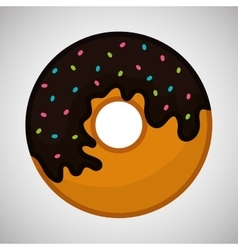 Flat about donut design vector