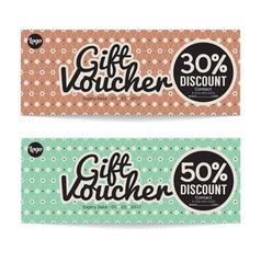 Gift voucher modern template design vector