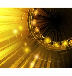 golden technology background vector image vector image