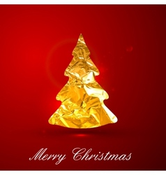 Holiday of a golden metallic foil Christmas vector image