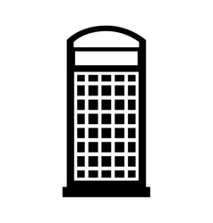 London telephone booth isolated icon vector