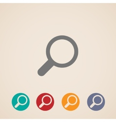 magnifier icons vector image