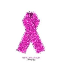 modern testicular cancer awareness circles vector image