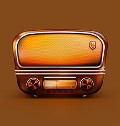 Old School Radio vector image