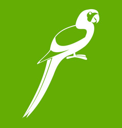 parrot icon green vector image vector image