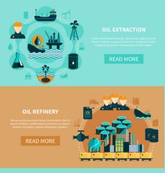 Petroleum transportation banners set vector