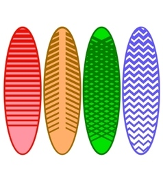 Set of Surfboards vector image vector image