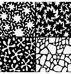 Set seamless abstract patterns vector