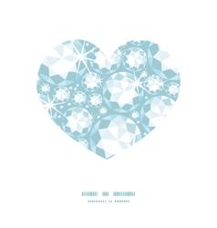 shiny diamonds heart silhouette pattern frame vector image