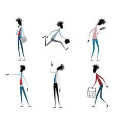 Six modern guys vector